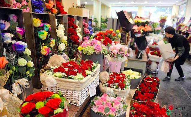 客人逛花店
